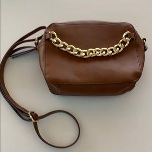 Camel crossbody purse